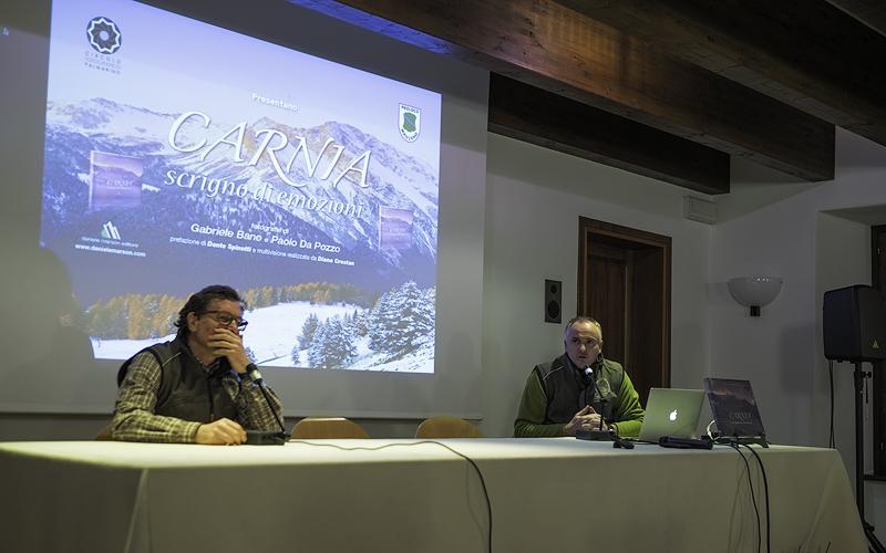 """Paolo Da Pozzo e Gabriele Bano alla presentazione di """"Carnia scrigno di emozioni"""""""