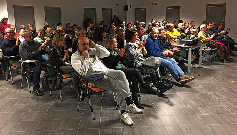 Il pubblico in sala ad Autofocus # 1 - Incontro con Felice Cirulli - Foto di Luigino Snidero