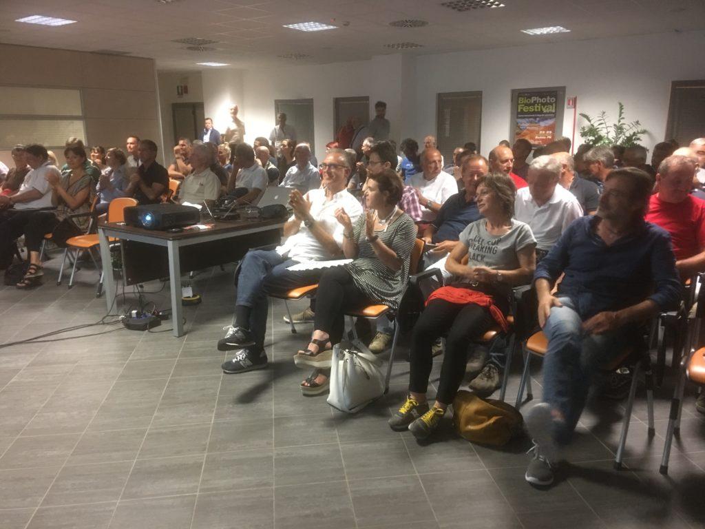 Il pubblico in sala alla presentazione